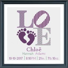 Birth Gift, Baby Birth, Cross Stitch Love, Cross Stitch Patterns, Types Of Stitches, Alphabet And Numbers, Baby Feet, Plastic Canvas Patterns, Baby Patterns