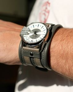 My next purchase !!!  Men's wrist watch Leather bracelet Discovery SALE  by dganin, $140.00