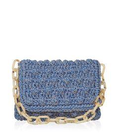 ONE & ONLY Denim Bubble Crochet Bag < NEW   aesthet.com