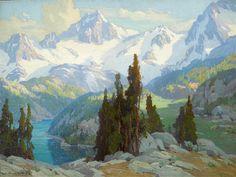 Marion Kavanagh Wachtel (American, Mount Whitney 30 x Fantasy Landscape, Landscape Art, Landscape Paintings, Mountain Landscape, Mount Whitney, American Impressionism, Impressionist, Chicago Artists, Virtual Art