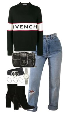 """""""Untitled #5331"""" by theeuropeancloset on Polyvore featuring Gianvito Rossi, Givenchy, Chanel, Gucci, H&M and ASOS"""