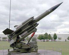 A Bloodhound missile at the RAF Museum, Hendon, London.