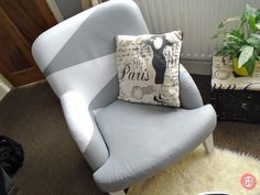 How to Paint a Fabric Sofa!