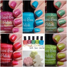 Ashley is PolishAddicted: Paint Box Polish: The North Shore Collection and Mani Fizzes - Swatches and Review