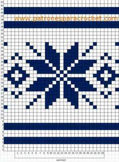 Crochet Stitches Patterns, Crochet Patterns For Beginners, Embroidery Patterns, Stitch Patterns, Knitting Patterns, Knitting Help, Knitting Charts, Crochet Gratis, Crochet Chart