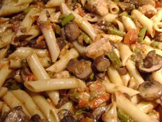 Pasta Recipe With Chicken, Mushrooms and Asparagus