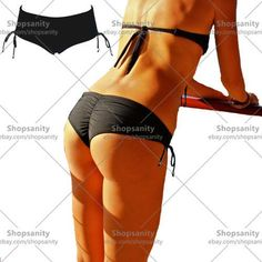 58a80db05addd 2016 Womens Black Brazlian Ruched Cheeky Bathing Suits Bikini Boy Shorts  Pants