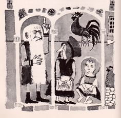 my vintage book collection (in blog form).: In the shop... The Tale of Gockel, Hinkel & Gackeliah - illustrated by Maurice Sendak