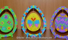 Easter eggs hanging bead board for DIY decoration