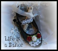 Cindy Adkins' Whimsical Musings: Altered baby Shoe