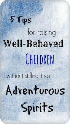 Tips for raising well behaved children #parenting #love raising children, kids…