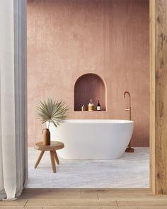 Bathroom Inspiration, Home Decor Inspiration, Interior Design Institute, Tadelakt, Bathroom Renos, Bathroom Interior Design, Beautiful Bathrooms, Open Plan, Arches