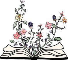 I love this for a tattoo, but not just flowers. Like flowers, a plane, animals, literally random things that might be in a book.