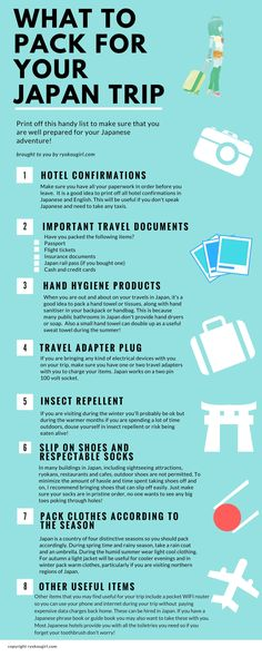 Check out this super useful guide on what to pack for your trip to Japan! http://tracking.publicidees.com/clic.php?progid=515&partid=48172&dpl=http%3A%2F%2Fsejour.govoyages.com%2Fvacances-voyage-japon-2%2F72