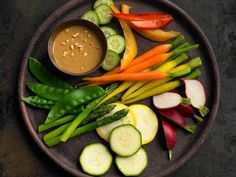 Vegetables with Almond Butter Dipping Sauce