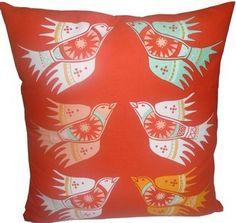 orange and teal pillow $44.95 #pillow #orange