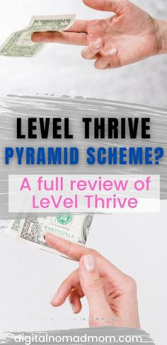Learn if LeVel Thrive is a pyramid scheme and whether or not it is a viable way to make money.