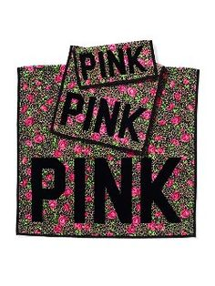 Freshen up with the Towel Set from Victoria's Secret PINK. This cotton set is perfect for drying off in style. Set includes a washcloth, hand towel, and bath towel. Victoria's Secret Pink, The Secret, Pink Towels, Pink Bedding, Bedding Sets, Pink Bedspread, Secret Closet, Linen Shop, Pink Nation