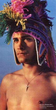 Gael Garcia Bernal. In a fabulous Galliano for Dior hat no less.
