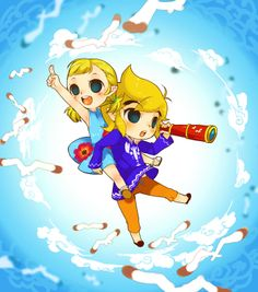 The Legend of Zelda: The Wind Waker, Toon Link and Aryll