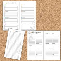 WEEKLY MENU Personal Size Kit Printable PDF. by EasyLifePlanners