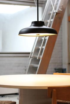 Bolero pendant M in mat black. Design Niclas Hoflin & photo Lisa Johansson — with Lisa Johansson.