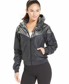 b9682f0ef0aa Nike Zip-Front Hooded Windrunner Track Jacket Women - Jackets   Blazers -  Macy s