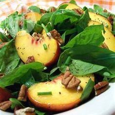 Spinach, Peach and Pecan Salad @ allrecipes.co.uk