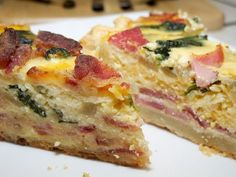 Easy Ham Egg Potato Bake With Cheddar Parmesan