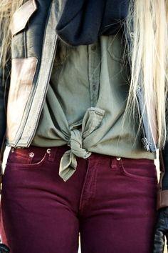 plum jeans.