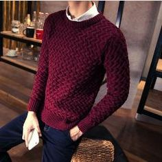 [ 46% OFF ] O-Neck Warm Sweater Brand Men Pullover Men Sweaters Knitting Slim Fit Sweater Men Plus Large Size Xxxl Homme