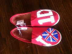 One Direction hand painted canvas shoes