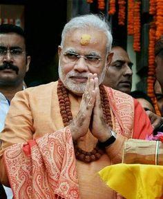 Narendra Modi at Pasupatinath temple on the last monday of shravan month...