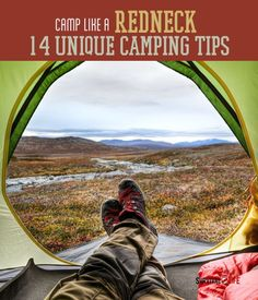 Survival Skills: Camp Like A Redneck. Impress your fellow campers with these truly unique camping tips. Survival Gear and Prepping Ideas | Survival Life | http://survivallife.com/2014/04/14/camp-like-a-redneck-14-unique-camping-tips/