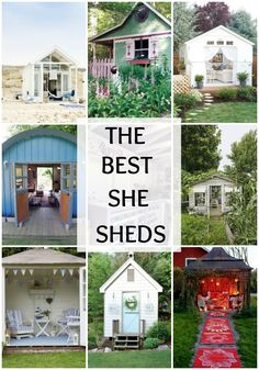 Do you want a backyard retreat all to yourself? Check out these AMAZING she shed ideas on A Blissful Nest and create a space all to your own. http://ablissfulnest.com/ #sheshed #outdoorideas #backyardideas #backyardentertaining #shed