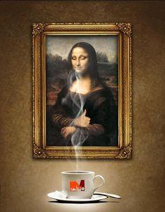 Mona Lisa + Aroma Café Miñana= :-)    imagen editada: funstuffcafe