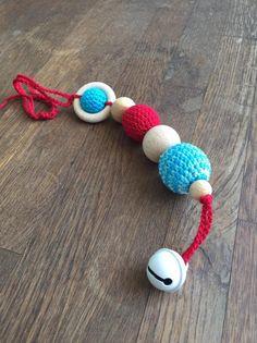 RosaPeonia –  Teething wooden toys Gioco dentizione con campanello.
