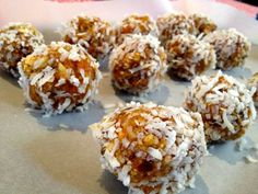 apricot and almond bliss balls.