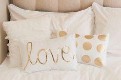 Gold Spot Pillow by MaxandMeHomewares on Etsy
