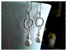 Friendship Ring with Pearl Earrings  small cute by LaLaCrystal, $20.50