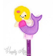 Mermaid Pencil Topper Embroidery Design