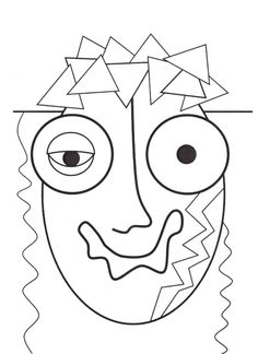 Arts And Crafts With Popsicle Sticks Kids Art Projects, Picasso Art, Face Art, Silhouette Stencil, Doodle Art, Intuitive Art, Art, Abstract, Coloring Pages