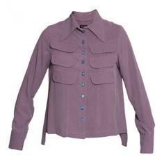 Roxos para a Temporada:   Camisa bolsos uva - Loja E-closet