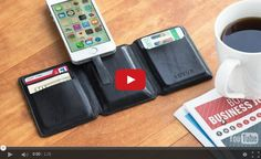 Seyvr [Saver] Charging Wallet: Pocket Power. Seyvr is an ultra-thin, top-grain leather wallet that doubles as a phone or tablet charger. The charging wallet holds six cards and has a money clip for cash and receipts, but it also includes an integrated powerbank with a lithium-polymer battery. You can charge your Android devices up to 50% and Apple devices up to 70%. It even comes with a built-in cable, so there's nothing else you need to remember.
