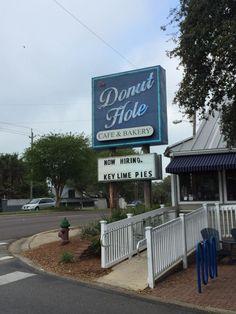 The Donut Hole Bakery and Cafe in Destin - Best Breakfast Places In Florida Destin Florida Restaurants, Destin Florida Vacation, Seaside Florida, Places In Florida, Destin Florida Wedding, Panama City Beach Florida, Old Florida, Florida Travel, Florida Beaches