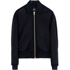 Mcq Alexander Mcqueen Black Paneled Bomber Jacket (983,120 KRW) ❤ liked on Polyvore featuring outerwear, jackets, black, mcq by alexander mcqueen, black jacket, lined jacket, flight jacket and blouson jacket