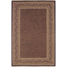 """American Home Rug Co. American Home Classic Mir Black/Gold Area Rug Rug Size: Runner 2'6"""" x 10'"""