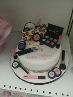 happy birthday birthday cake make up beauty cake things we love pinterest birthday cakes. Black Bedroom Furniture Sets. Home Design Ideas