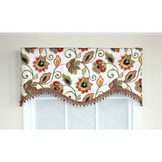Features:  -An original swavelle/ mill creek fabric design.  -Decorator quality goods.  -Fully lined.  Country of Manufacture: -United States.  Product Type: -Curtain valance.  Design: -Scalloped.  Ma