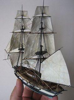 My waterline model of H.Sophoe, fictional mount of Jack Aubrey in the Patric… Boat In A Bottle, Ship In Bottle, Model Sailing Ships, Model Ships, Sloop Of War, Model Sailboats, Wooden Model Boats, Model Ship Building, Lego Ship